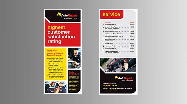 automotive rack card