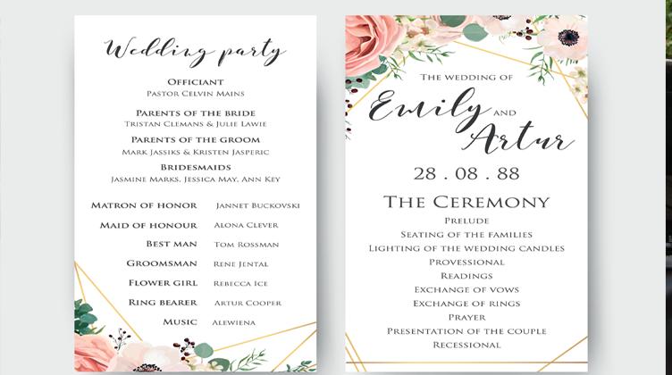 wedding-programme